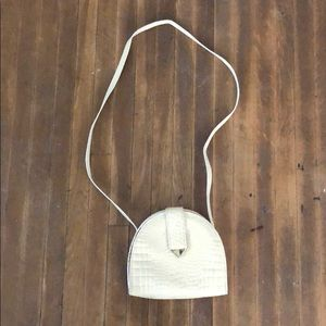 Handbags - VINTAGE FAUX CROCODILE SKIN PURSE